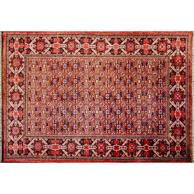 almost all Turkmen rugs were produced by nomadic tribes almost entirely with locally obtained materials, wool from the...