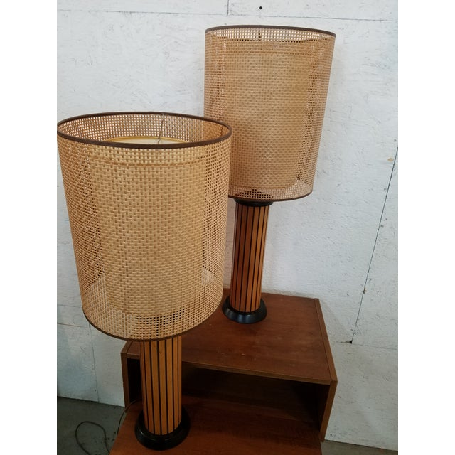 Hans Wegner Wood Strip Lamps - A Pair For Sale - Image 5 of 5
