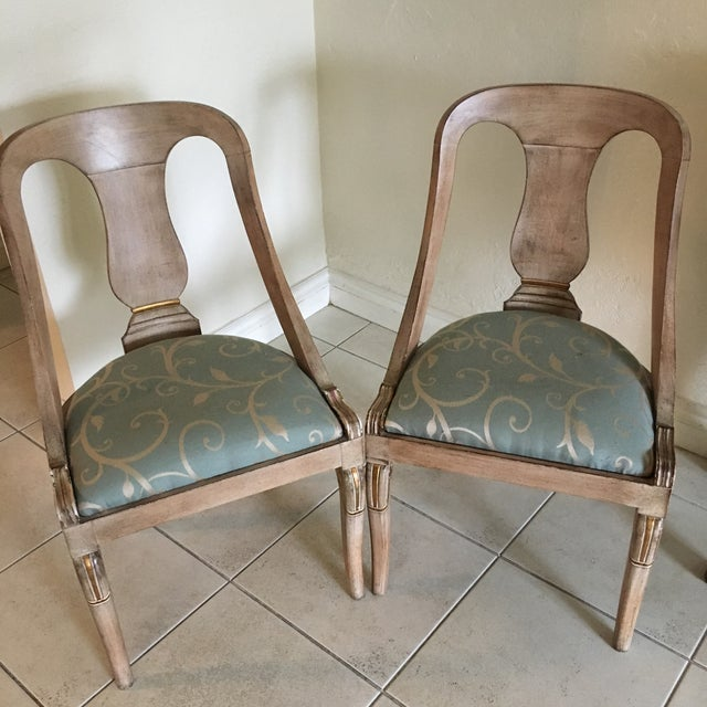 Roman Style Library Chairs - A Pair For Sale In Miami - Image 6 of 11