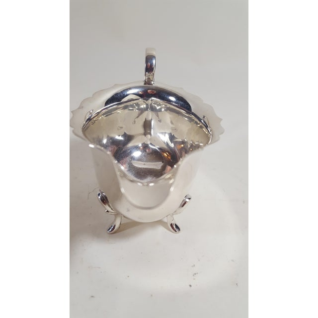 Traditional 19th Century Traditional Silver Plate Gravy Sauce Boat For Sale - Image 3 of 7