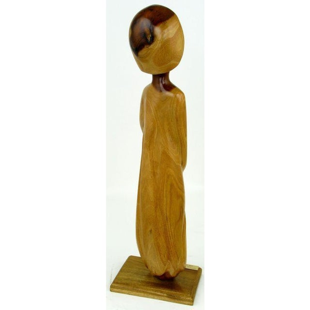 Seri Iron Wood Sculpture Of Female Abstract By Miguel Estrella - Image 2 of 5