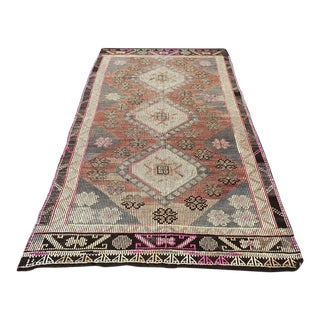 Antique Vintage Kiim Rug - 5′3″ × 9′8″ For Sale