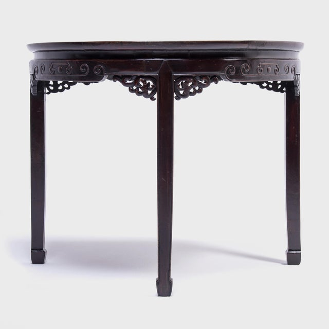 Brown 19th Century Chinese Demi-Lune Table For Sale - Image 8 of 8
