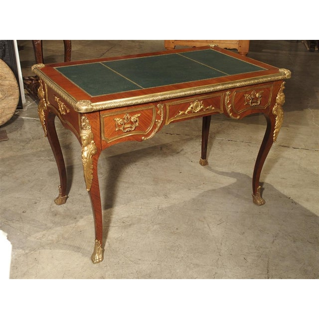 Circa 1900 French Louis XV Style Bureau Plat Writing Desk For Sale - Image 13 of 13