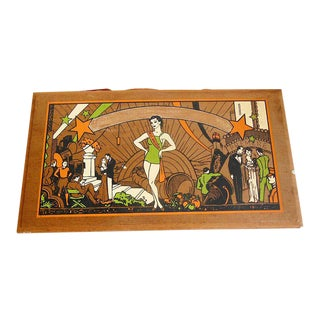 Vintage Hollywood Glam Lady Wood Box