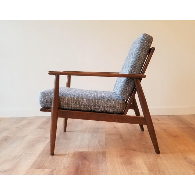 Mid-Century Modern Newly Upholstered Viko Baumritter Walnut Armchair For Sale - Image 3 of 12