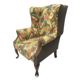 Queen Anne Wingback Chair