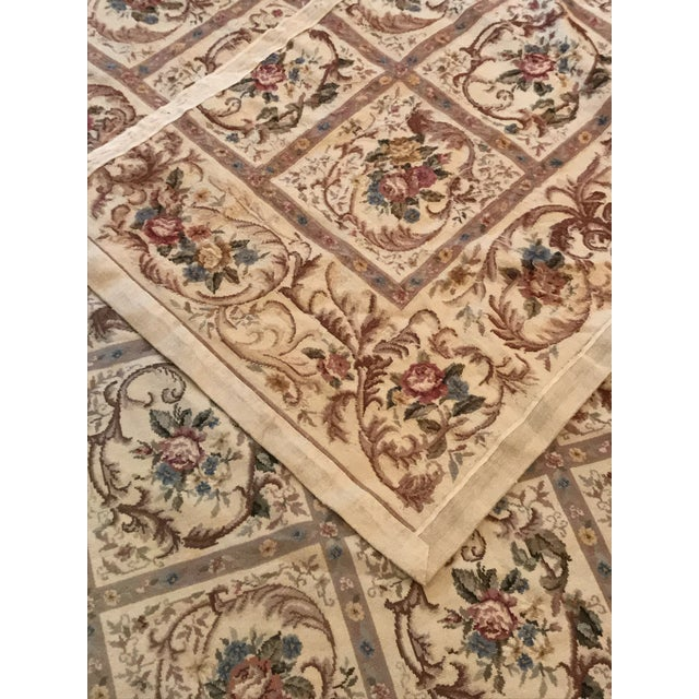 French Aubusson Needlepoint Rug 8 6 11 For