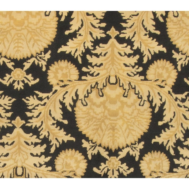 Black and Gold Hand-Knotted Wool Rug - 8' X 10' - Image 3 of 4