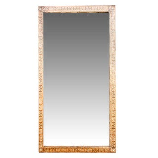 Meandros Inlaid Floor Mirror For Sale