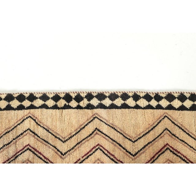 Late 20th Century Hand-Knotted Persian Gabbeh Rug - 3′2″ × 6′8″ For Sale - Image 4 of 8