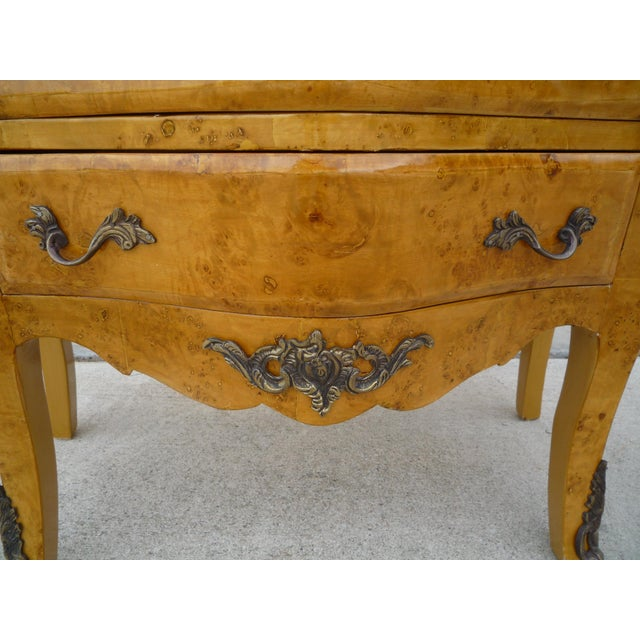 Louis XV-Styled Travertine Top Commode Chest For Sale - Image 4 of 6