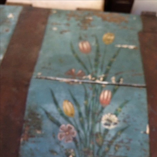 Antique Painted Chest 1822 - Image 6 of 11