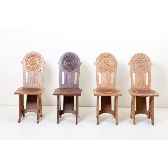 1930s Set of Four Avantgarde Art Deco Chairs, France 1930s For Sale - Image 5 of 13