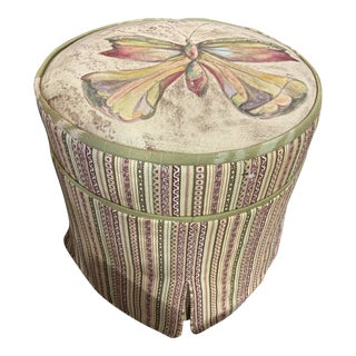 Carol Hicks Bolton for E. J. Victor Hand Painted Stool For Sale