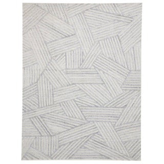 Contemporary Area Rug With Bauhaus Style - 9′ × 11′10″ For Sale
