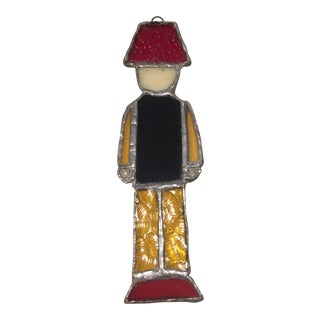 Stained Glass Nutcracker Toy Soldier For Sale