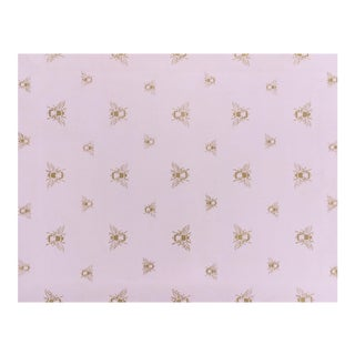 Pink & Metallic Gold 'Golden Bee' Floorcloth For Sale