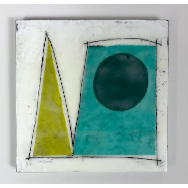 """Gina Cochran """"Road Trip"""" Encaustic Collages - 16 Pieces For Sale - Image 4 of 13"""