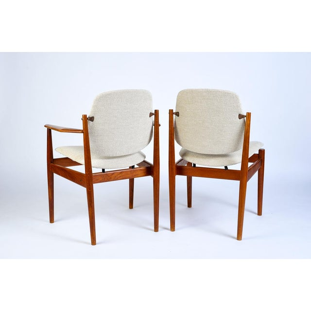 Danish Modern Danish Modern Arne Vodder Arm Chair - Matched Pair For Sale - Image 3 of 5