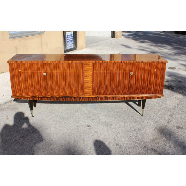 1940sArt Deco Exotic Macassar Ebony Sideboard / Buffet For Sale - Image 13 of 13