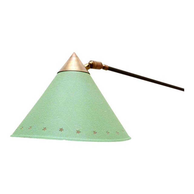 AMBIANIC is please to offer for your consideration a vintage wall sconce in the style of Pierre Guariche. Conical shade...