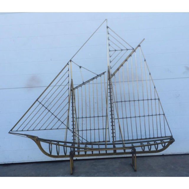 Curtis Jere Brass Boat Sculpture - Image 3 of 6