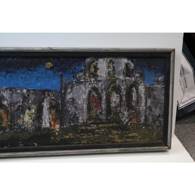 Vintage Mid-Century Kenneth Forman Village at Evening Painting For Sale - Image 4 of 8