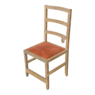 Phaedo Washed White Oak Monolith Ladderback Chair For Sale