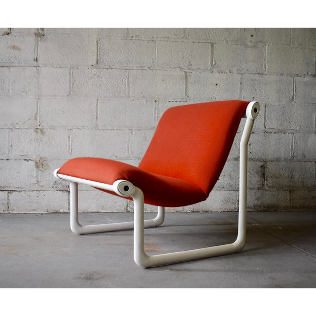 Bruce Hannah & Andrew Morrison Hannah & Morrison for Knoll Mid Century Modern Sling Lounge Chair For Sale - Image 4 of 13