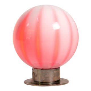 1980s Hollywood Regency Global Views Murano Globe Lamp For Sale