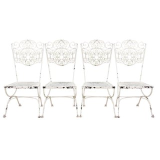 French Cafe Style Bistro Chairs, S/4 For Sale