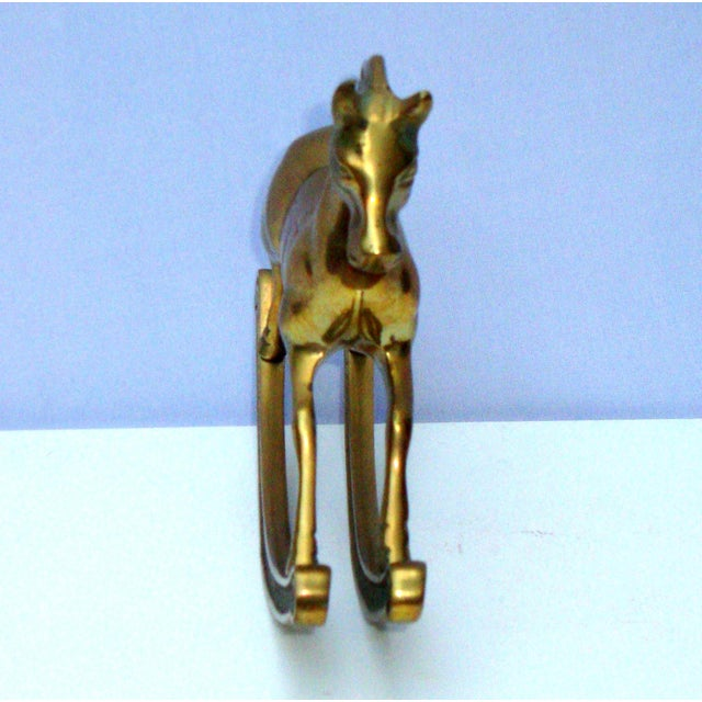 Hollywood Regency Mid-Century Brass Rocking Horse - Image 10 of 11
