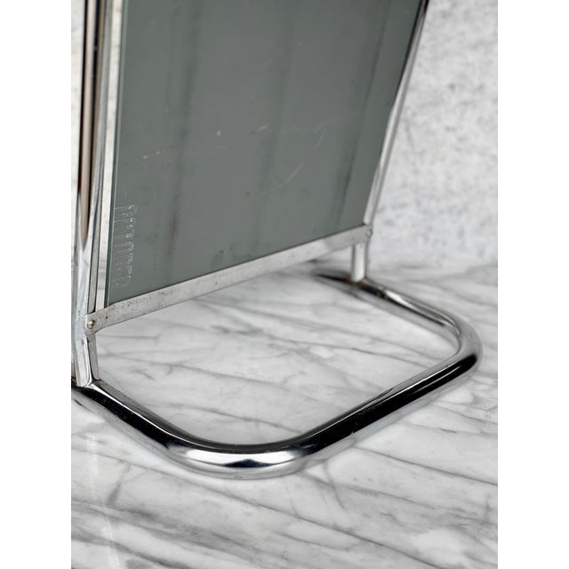 Vintage Medical Doctor's Chrome Floor Table Mirror For Sale - Image 6 of 10