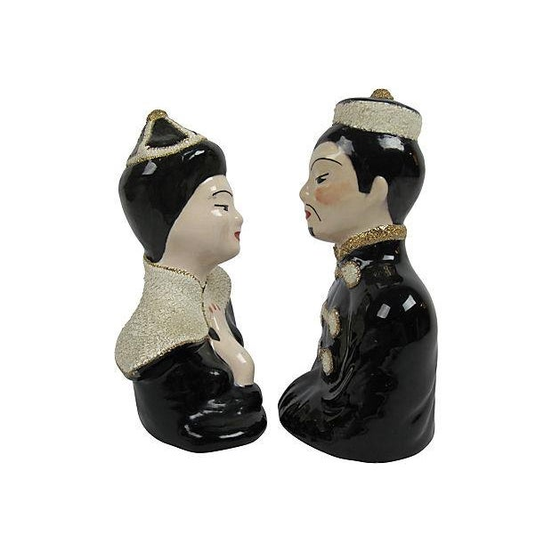 1940's Japanese Ceramic Busts - a Pair - Image 3 of 3