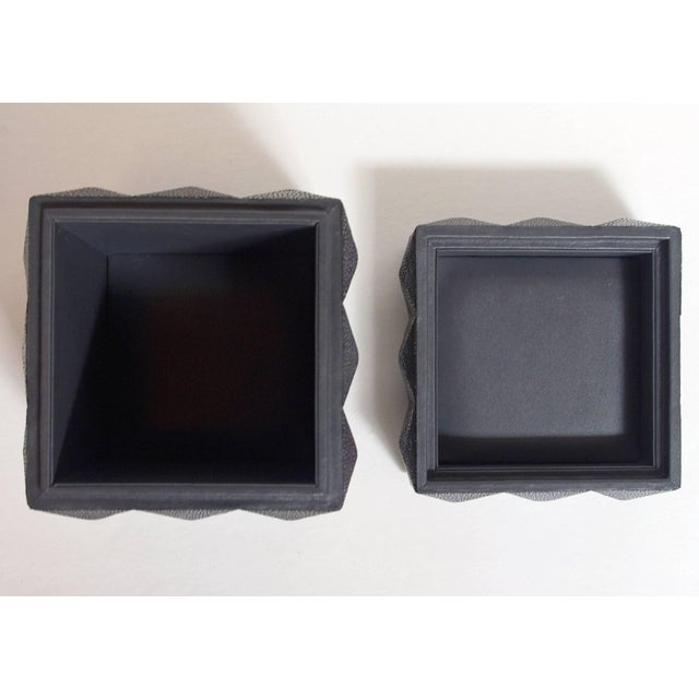 Shagreen Pyramid Black Shagreen Box by Fabio Ltd For Sale - Image 7 of 8