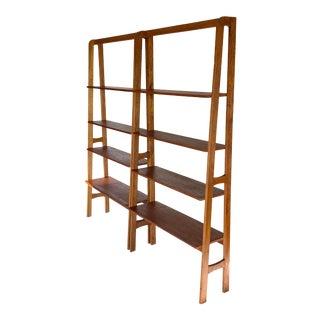1960s Kurt Østervig Style Danish Bookcases-a Pair For Sale
