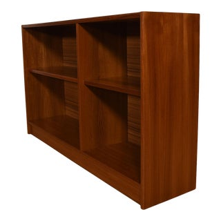 Pair of Danish Modern Teak Low Bookcases For Sale