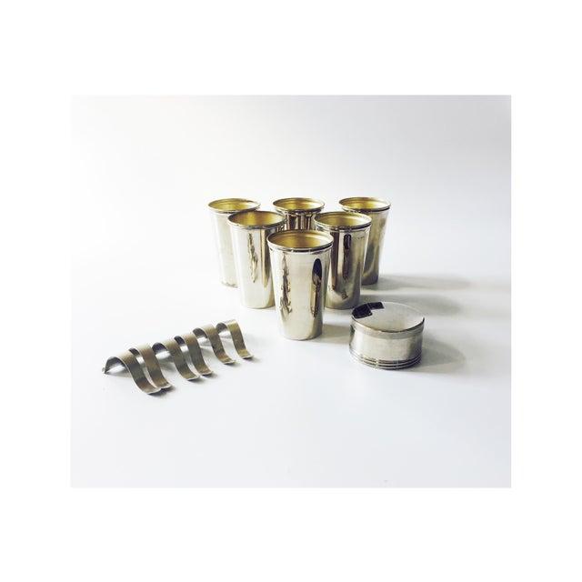 Vintage Metal Travel Mugs - Set of 6 - Image 2 of 6