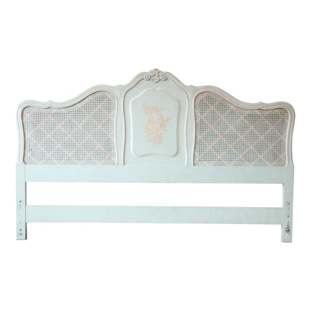 John Widdicomb French Provincial Louis XV Style King Size Headboard For Sale