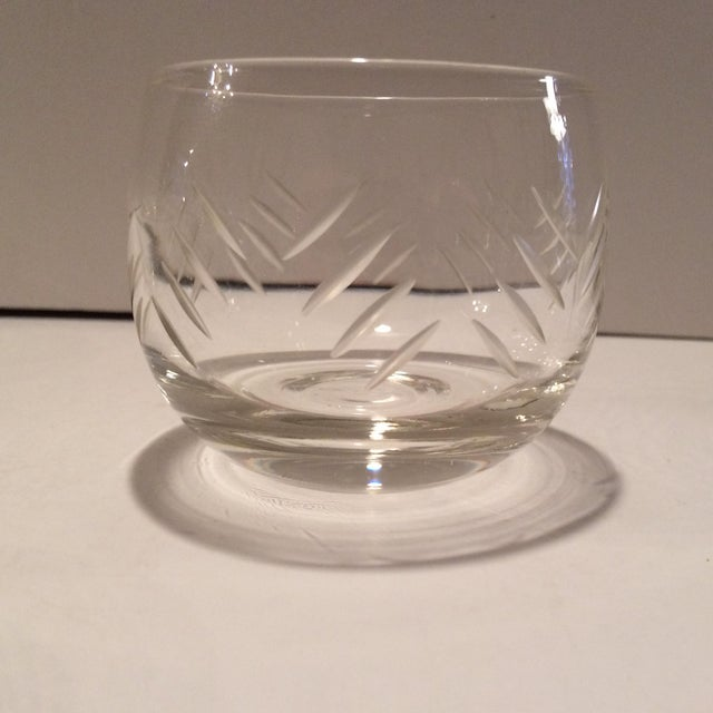 Contemporary 1930's Cut Crystal Roly Poly Glasses - Set of 7 For Sale - Image 3 of 11