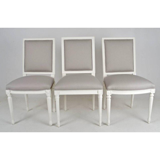 Louis XVI-Style Dining Chairs - Set of 8 - Image 7 of 8