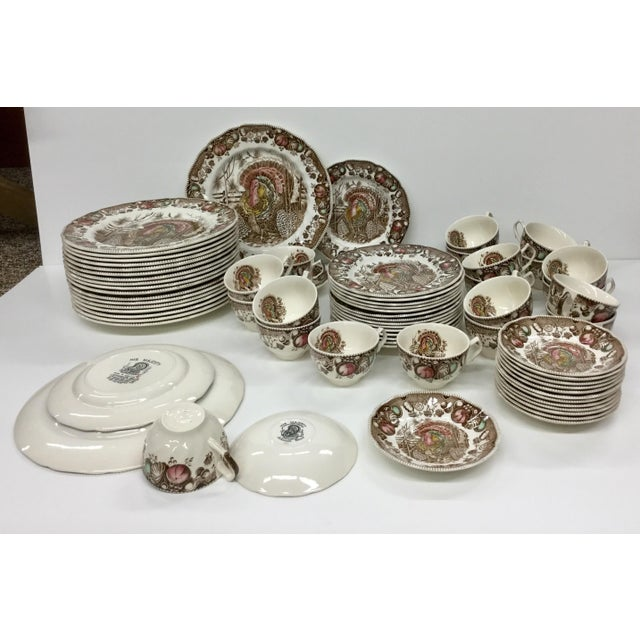 Johnson Bros His Majesty Turkey Dinnerware - Set of 71 For Sale - Image 12 of 13