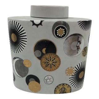 Contemporary Fabienne Jouvin Paris Porcelain Canister For Sale