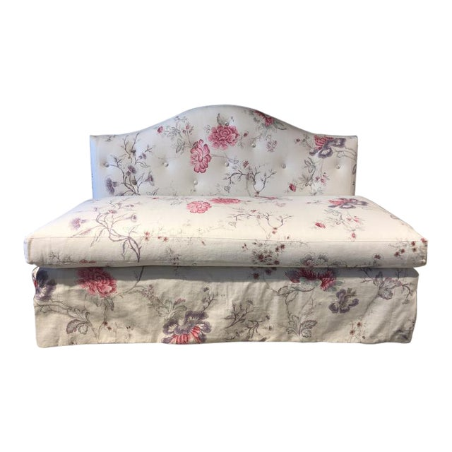 Charlotte Moss for Century Furniture Patti Skirted Settee For Sale
