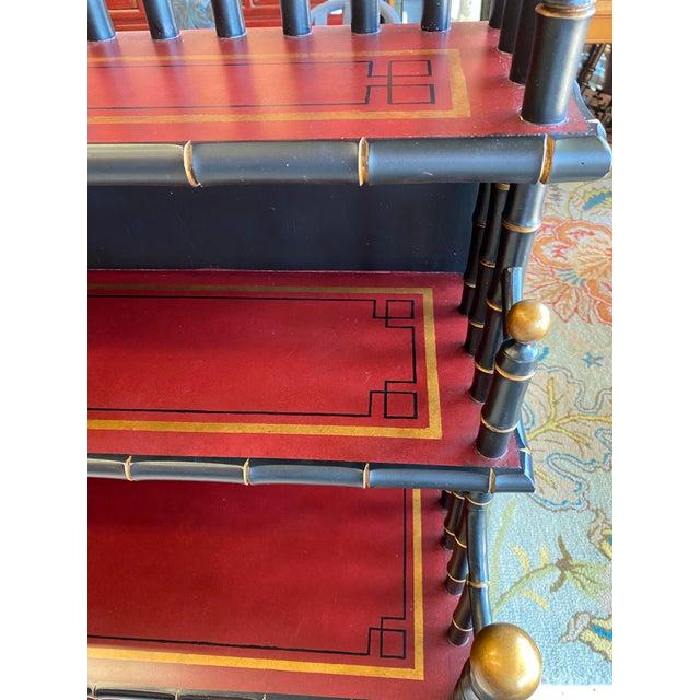 Chinoiserie Mario Buatta Widdicomb Waterfall Bookcase For Sale - Image 10 of 12