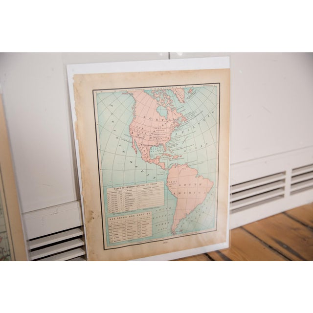 Americana Cram's 1907 Map of Americas For Sale - Image 3 of 8