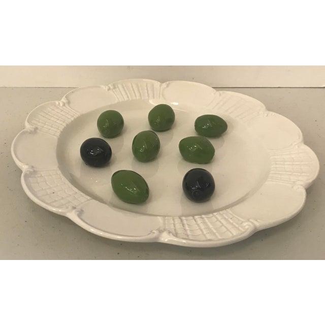 Nice Italian Este Trompe L'Oeil olive plate!