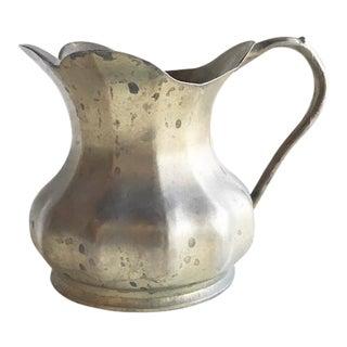 Italian Scalloped Brass Vase