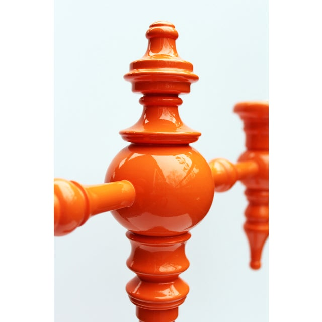 "Dunes and Duchess ""Classique"" Candelabra in Orange - Image 4 of 8"